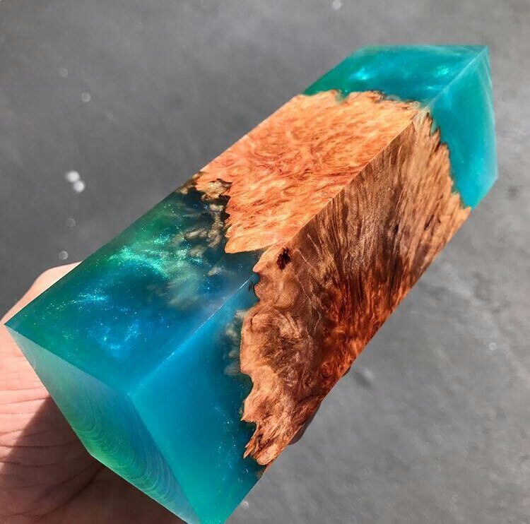 Stabilized wood+resin